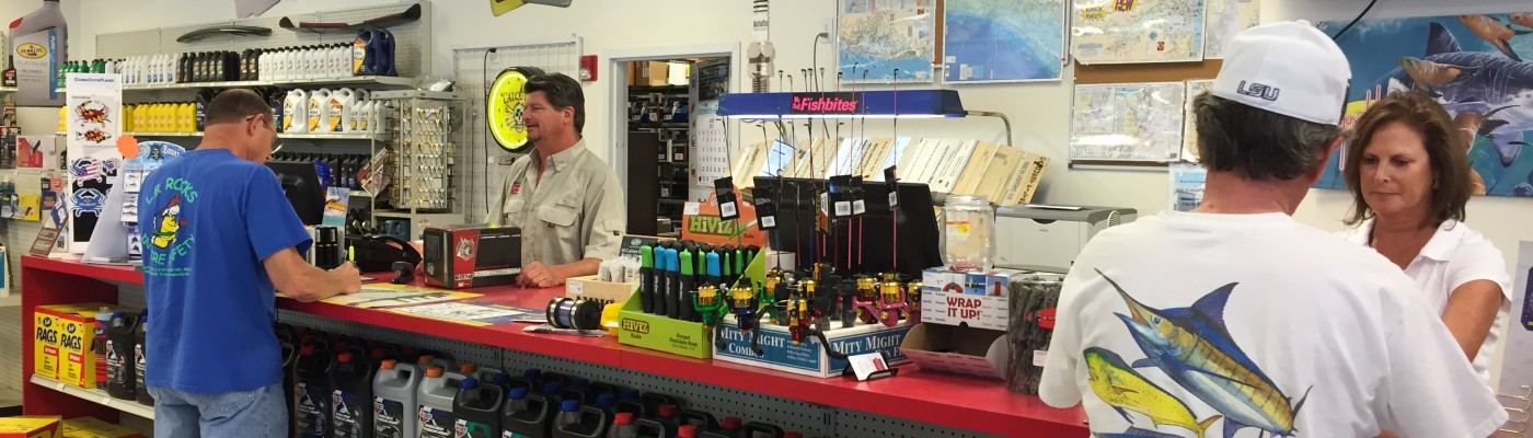 Bethany Auto Parts & Marine Supplies Checkout Counter